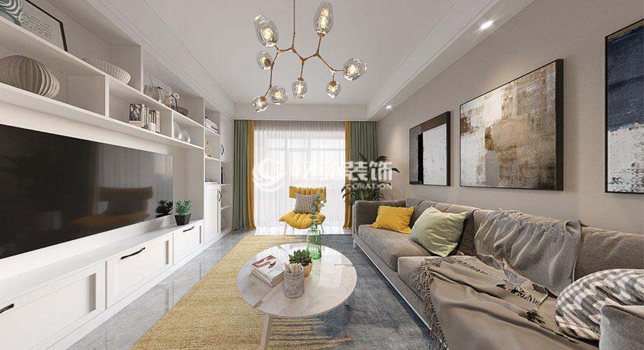襄阳装修案例九街十八巷109平米北欧风格装修案例,简单舒适有情调!