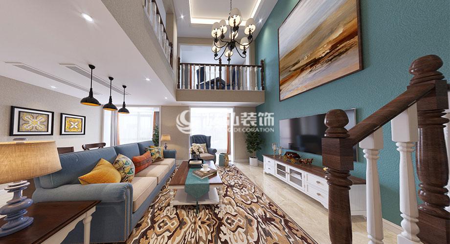 翰林世家200平米简美风格装修案例,高雅不繁杂的温馨之家~