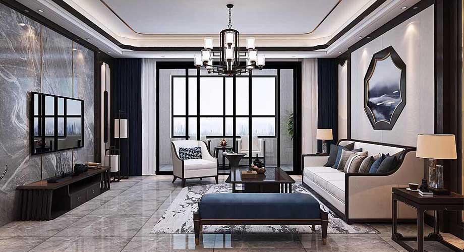 汉水华城158平米新中式风格装修,稳重大方,质感大气!