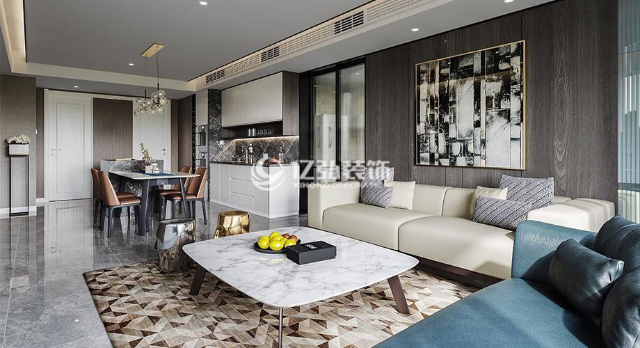 玉龙湾125平米现代简约风格装修,时尚质感,精致大气!
