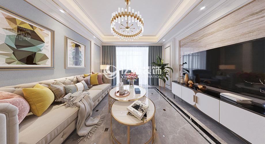 融侨锦江117平米美式轻奢风格装修,时尚精致浪漫!