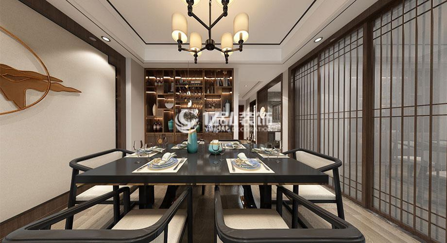 融侨锦江117平米新中式风格装修,雅致大气高贵!