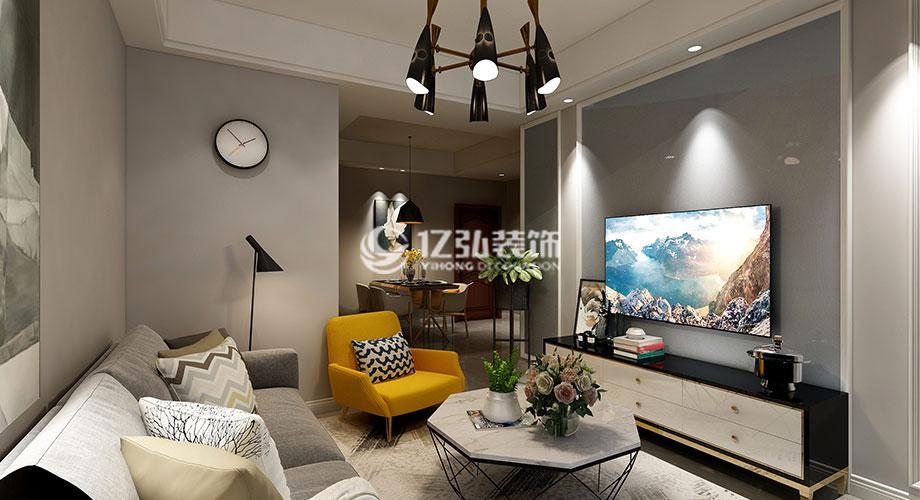 襄阳装修案例融侨城82平米现代风格两居室,时尚而不失优雅气质!