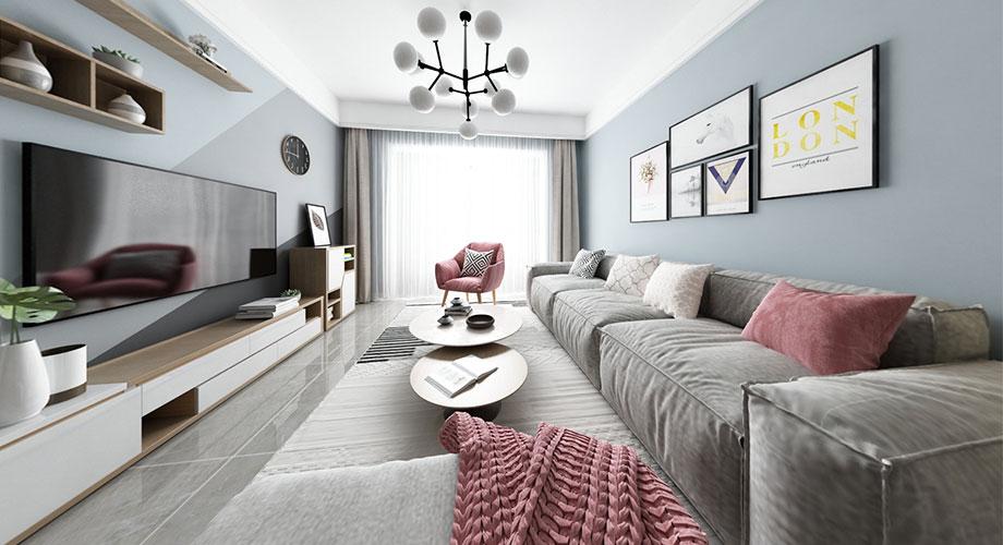 融侨锦江117平米北欧风格装修案例,打造轻盈优雅的气质美居!