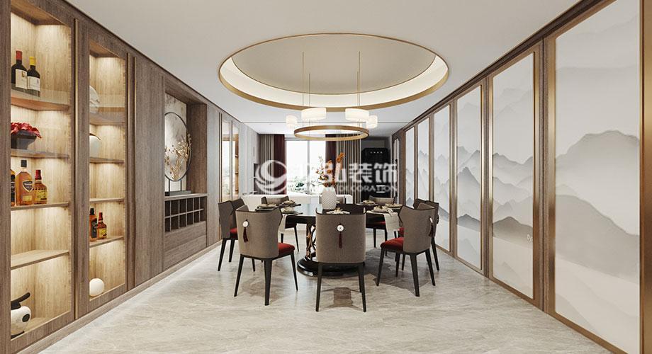 九街十八巷318平米轻奢新中式风格装修,简约大气,格调高雅!