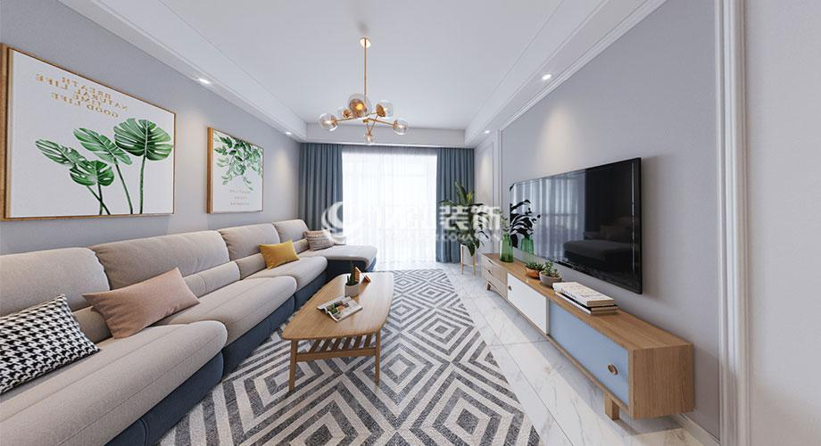 融侨锦江117平米现代风格三居室,温馨自然有格调!