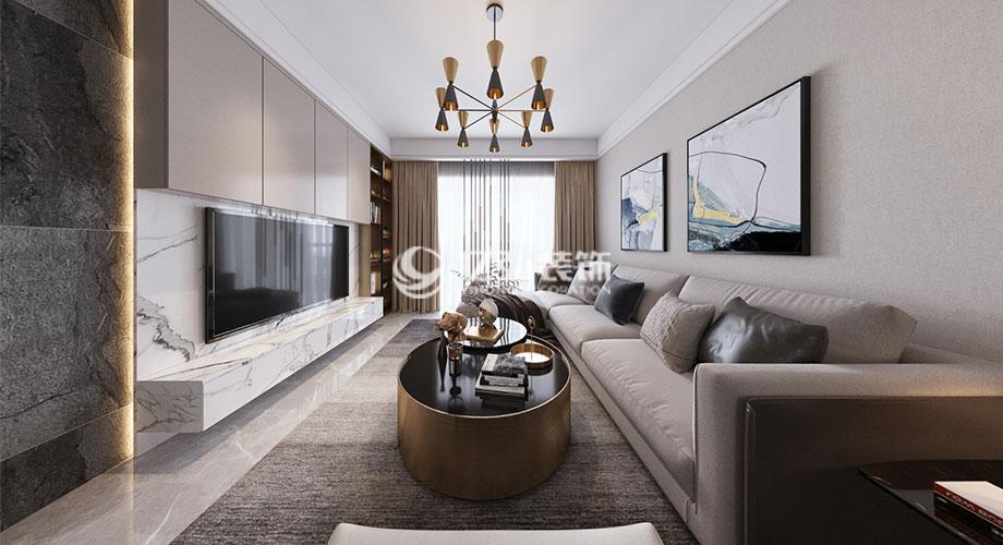 和信北郡123平米现代轻奢风格装修,简约时尚,轻奢唯美!