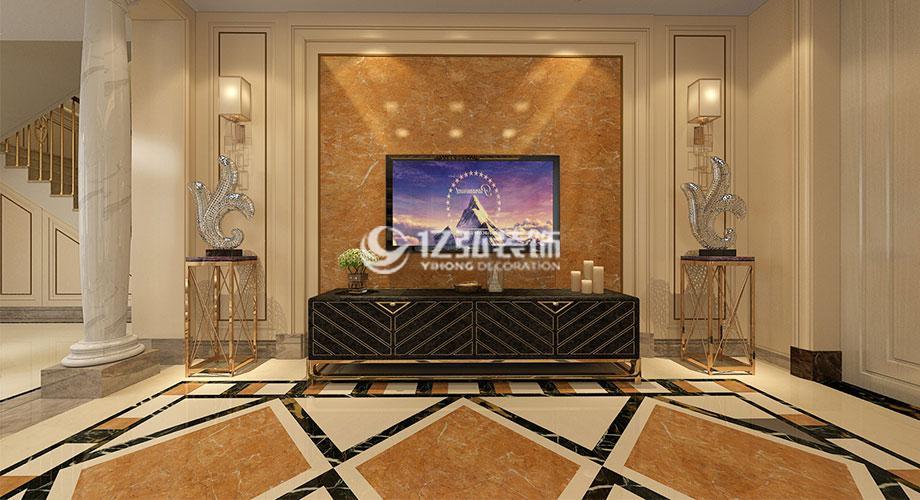襄阳碧桂园240平米欧式风格别墅装修案例,高贵华丽,端庄大气!