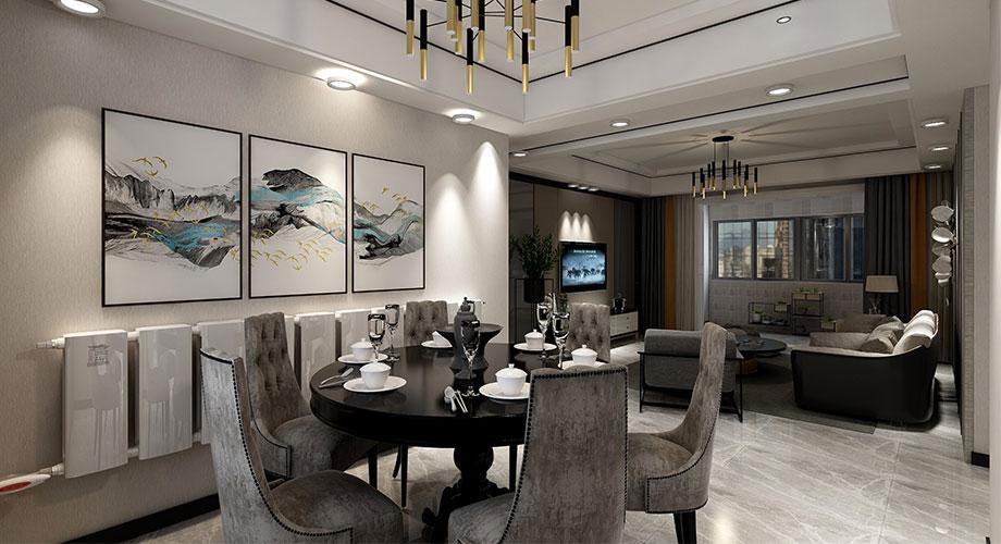 融侨锦江136平米现代风格装修案例,时尚利落打造质感空间!