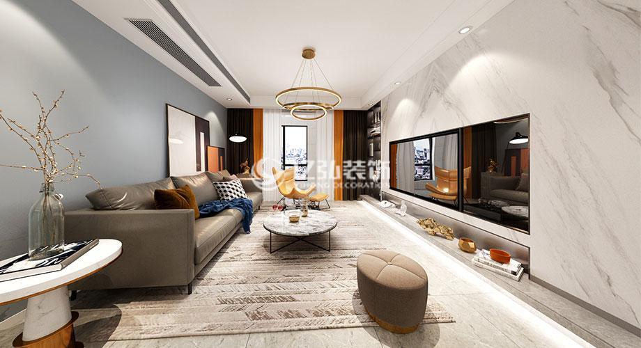 120平米现代风格装修案例,时尚大方的气质美居!