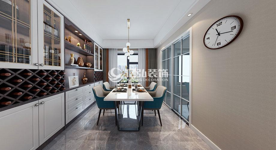 普鑫上东郡110平米现代风格装修,时尚大气的气质美居!