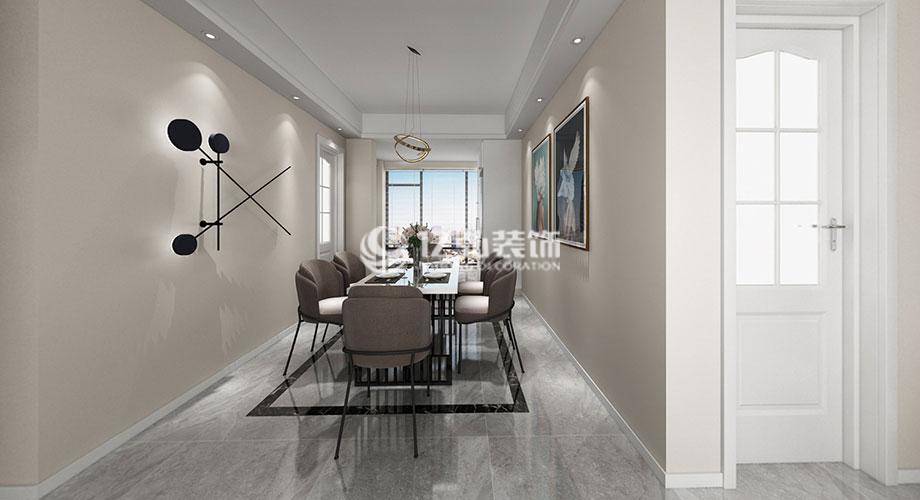 襄阳装修案例九洲岛125平米现代简约风格装修,简约时尚轻松自在!