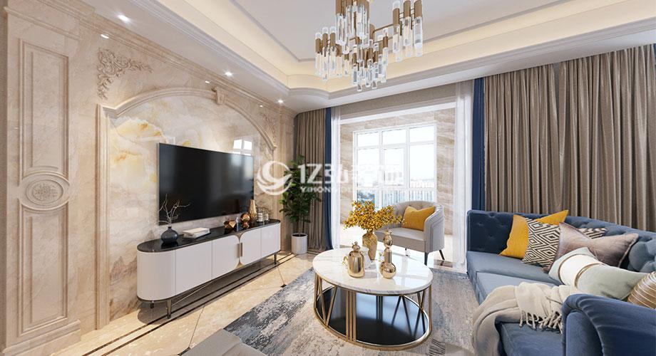 东津世纪城127平米欧式轻奢风格装修,精致时尚的浪漫空间!