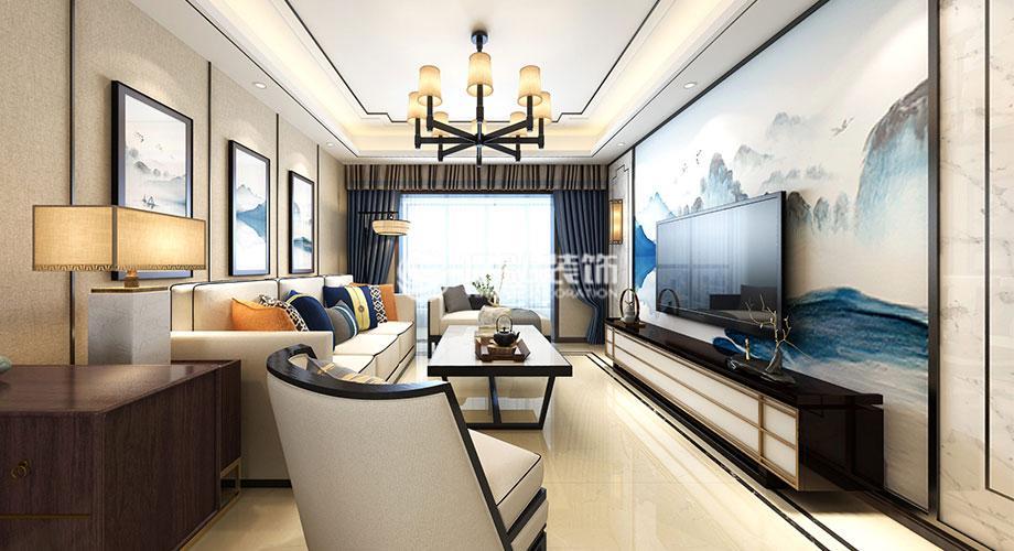襄阳装修案例 九街十八巷136平米新中式风格装修,优雅大气,质感十足!