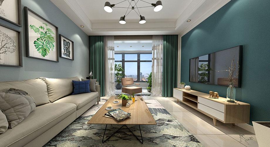 上品百合园90平米现代风格两居室,清雅精致,时尚浪漫!