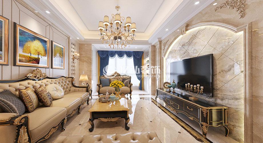 襄阳装修案例东津世纪城191平米欧式风格复式楼,高贵奢华典雅!