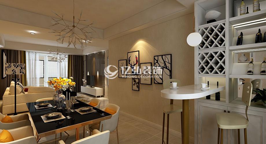 东津世纪城130平米现代风格装修,时尚精致,温馨浪漫!