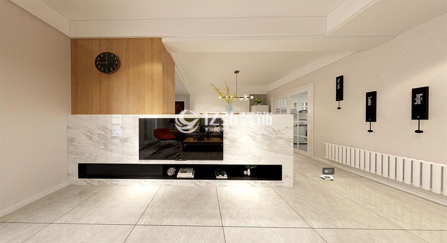 航宇幸福家园115平现代风格装修,简约舒适!