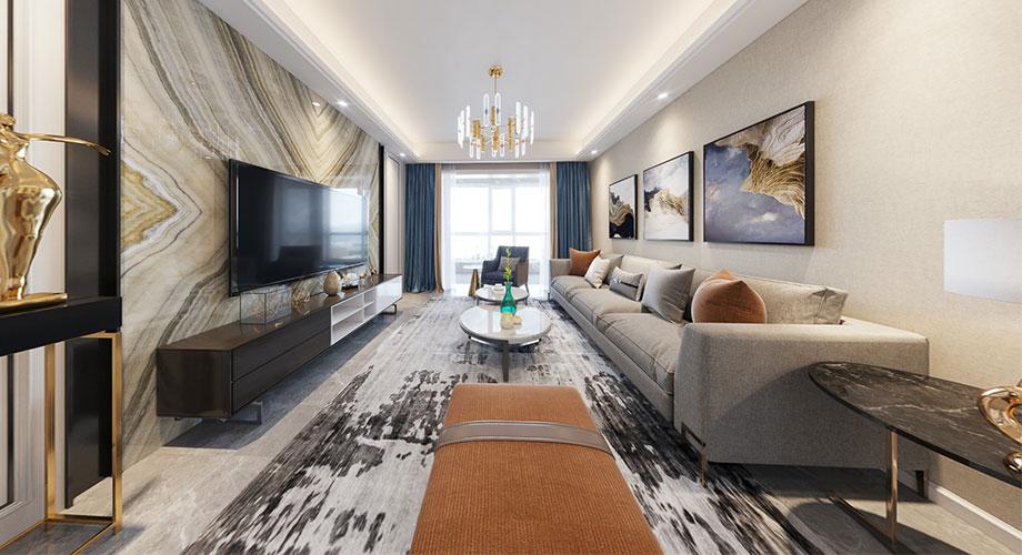 普鑫上东郡110平米现代风格装修,温馨时尚的魅力家居!