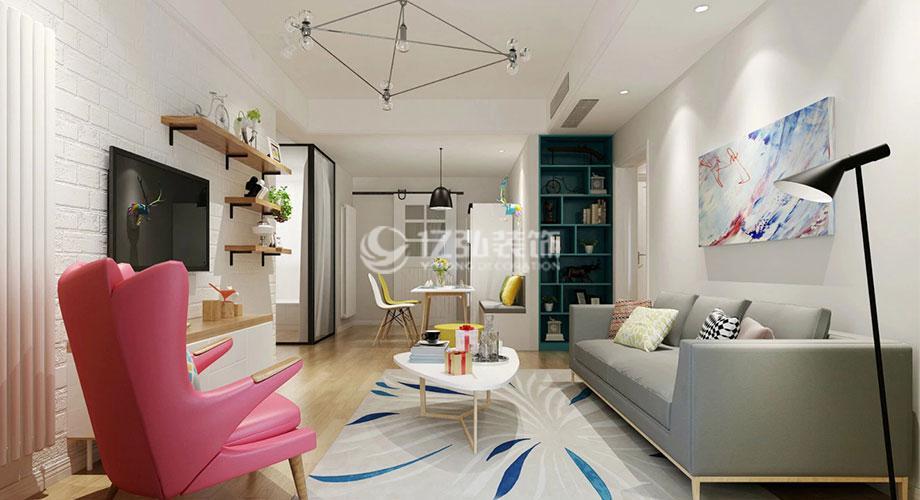海荣幸福里96平米北欧风格两居室,简单温馨有格调!