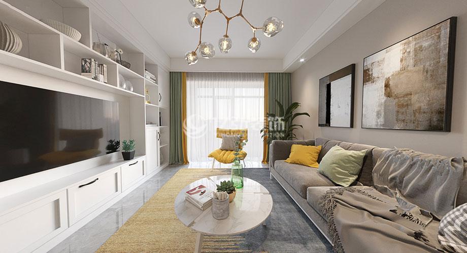九街十八巷109平北欧风格,打造清新舒适美居!