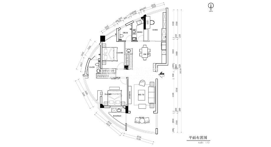 襄阳装修案例襄阳天下140平米新中式风格装修,质感大气,意韵十足!