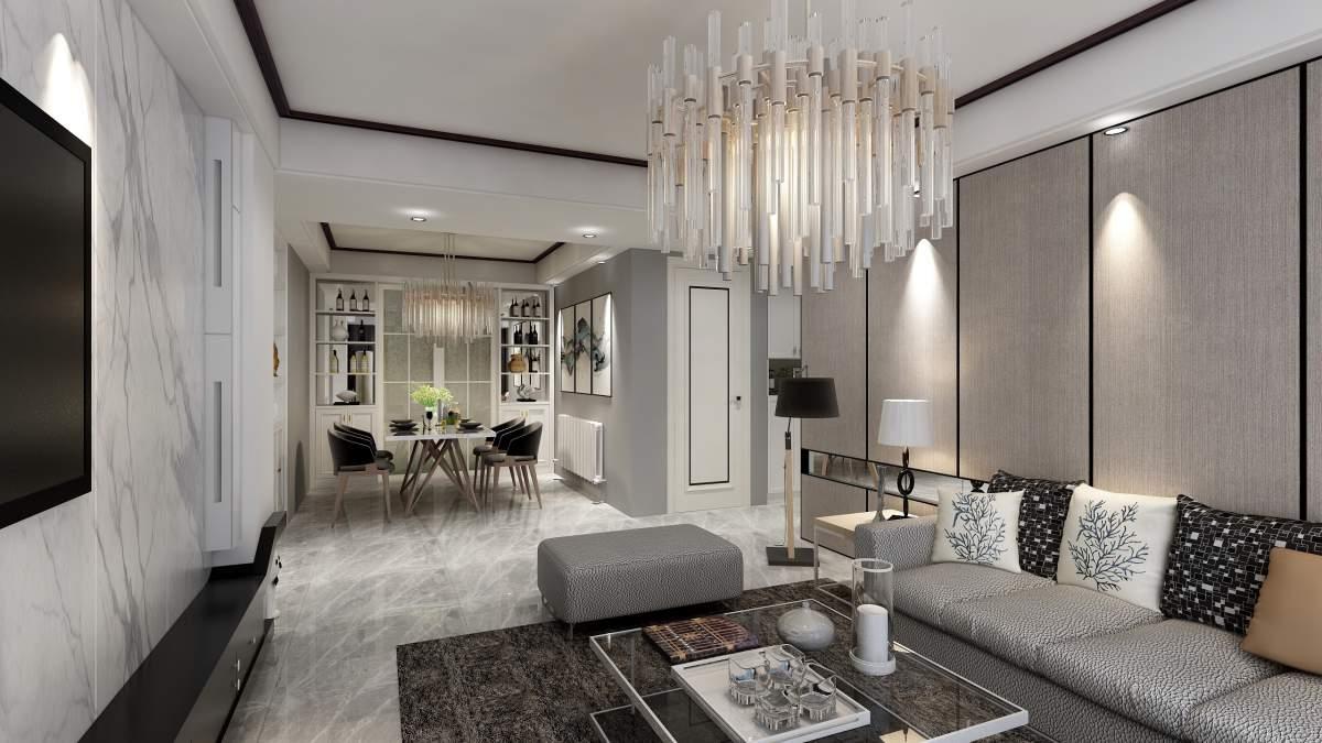 汉水华城130平轻奢风格,营造简洁高级质感家居!
