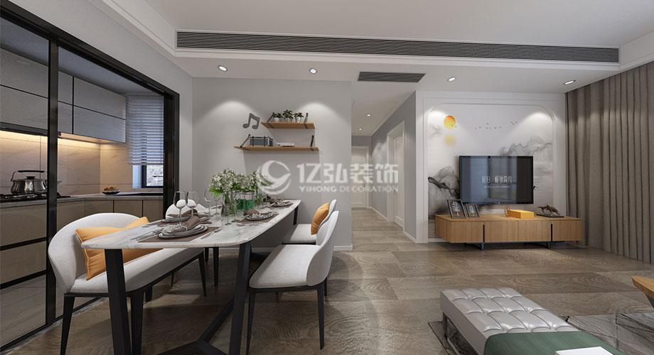 襄阳航宇幸福家园94平米现代简约风格装修,舒适恬静!