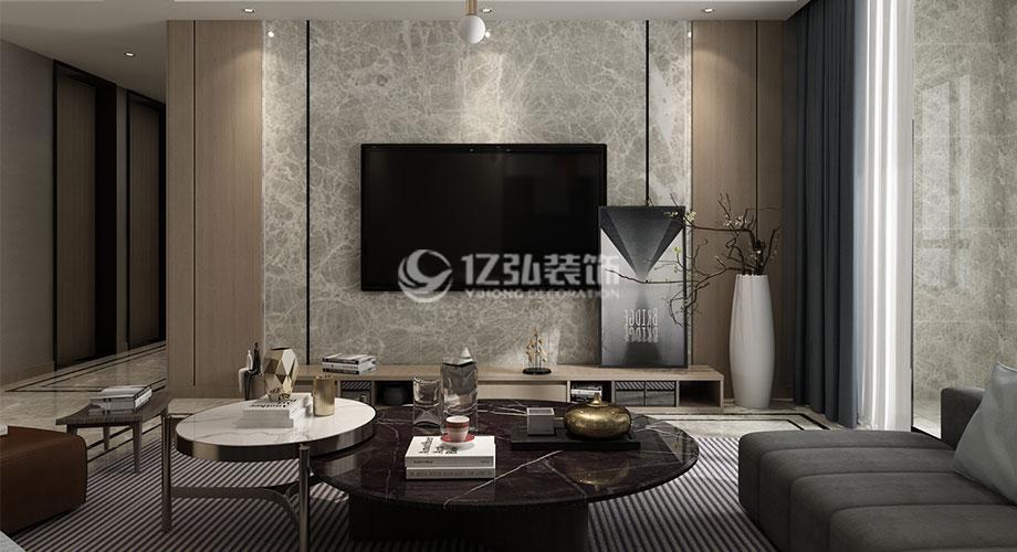 骧龙国际142平米现代简约风格装修,灰色调打造时尚雅致家!