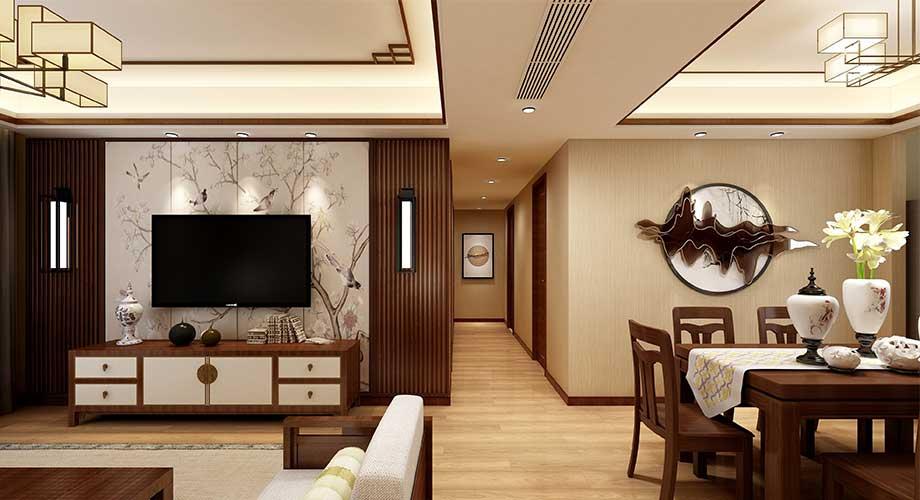 绿地二期140平米中式风格装修,端庄大气,稳重雅致!