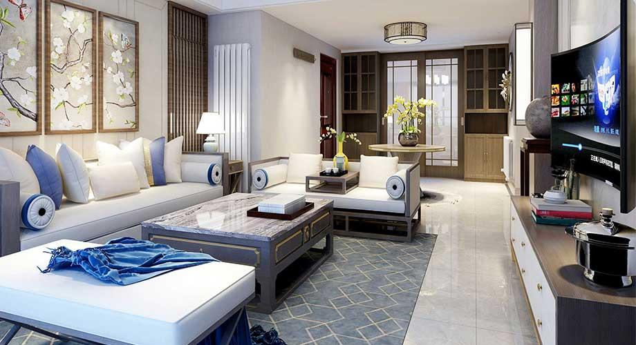 襄阳装修案例襄阳航宇幸福家园146平米新中式风格装修,极具古典韵味!