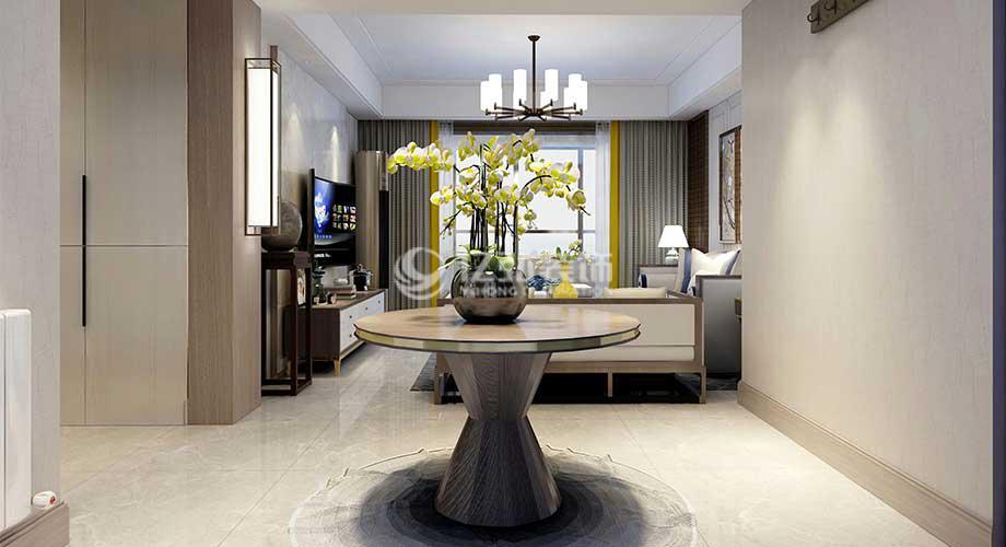 襄阳航宇幸福家园146平米新中式风格装修,极具古典韵味!