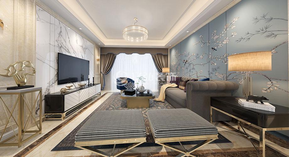 襄阳装修案例襄阳汉水华城150平米简欧风格装修,雅致高贵浪漫!