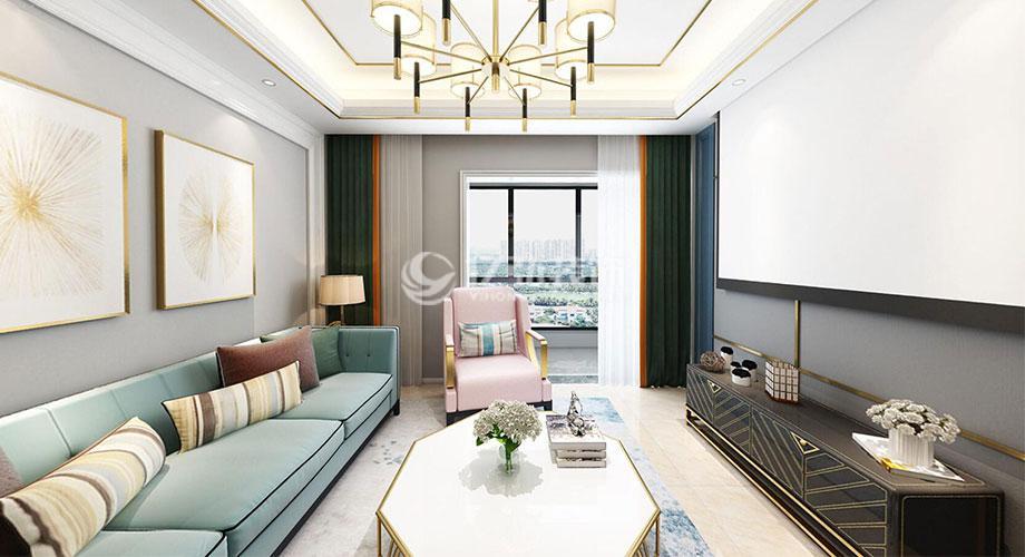 汉水华城125平米美式风格装修,清新淡雅,时尚浪漫!