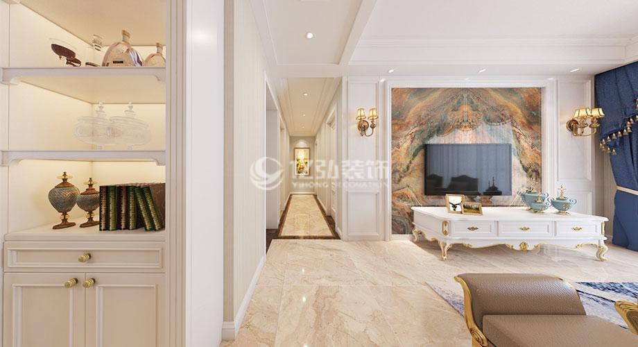 襄阳装修案例绿地一期120平米欧式风格装修,简约优雅时尚浪漫!