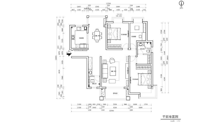 襄阳装修案例襄阳汉江明珠城135平米北欧风格装修效果图赏析!