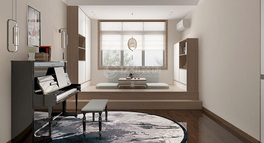 交通物流局94平米两室两厅新中式风格装修效果图