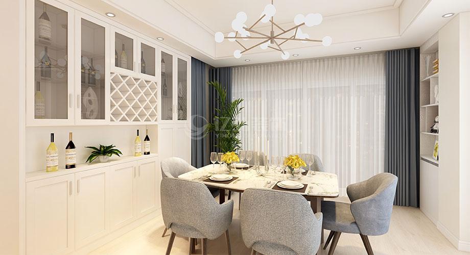 襄阳装修案例襄阳襄轴家园130平米现代简约风格装修效果图!