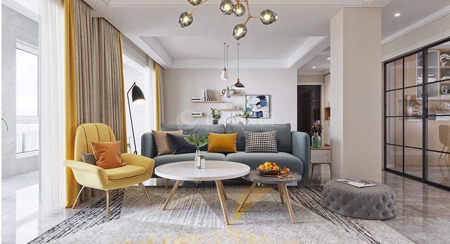 襄阳装修案例 襄阳余岗新市民公寓139平米北欧风格装修效果图