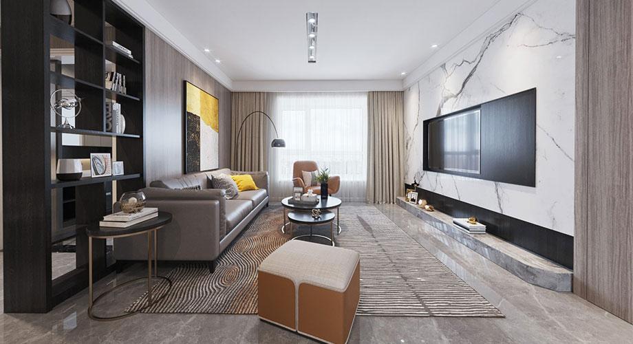 襄阳名仕家天下120平米三室两厅现代风格装修效果图!