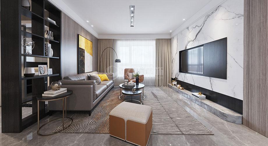 襄阳装修案例襄阳名仕家天下120平米三室两厅现代风格装修效果图!