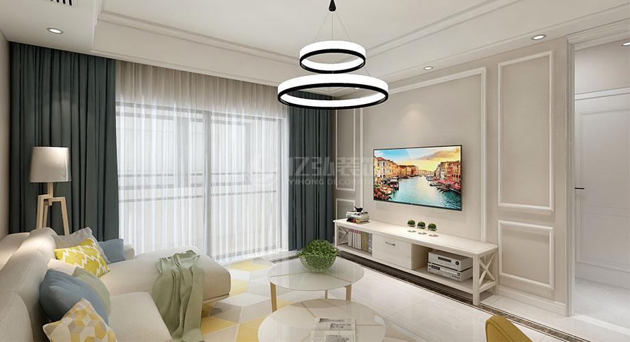 襄阳骧龙国际117平米三室两厅现代简约风格装修效果图!
