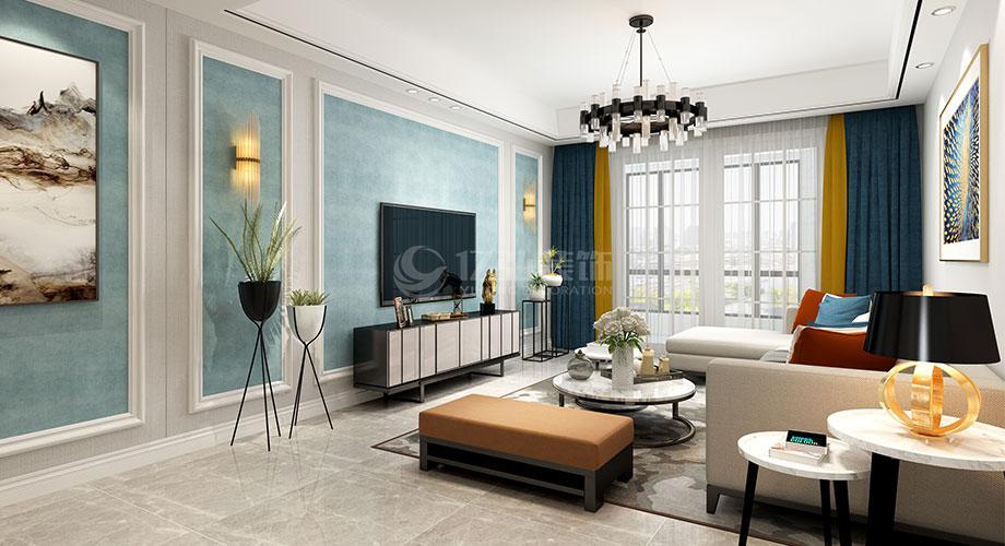观音阁90平米两室两厅现代简约风格装修效果图!