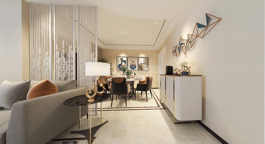襄阳航宇幸福家园130平米现代风格装修效果图!