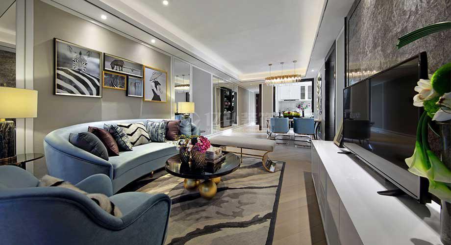 襄阳装修案例襄阳?#25509;?#24184;福家园95平米三室两厅现代轻奢风格装修!