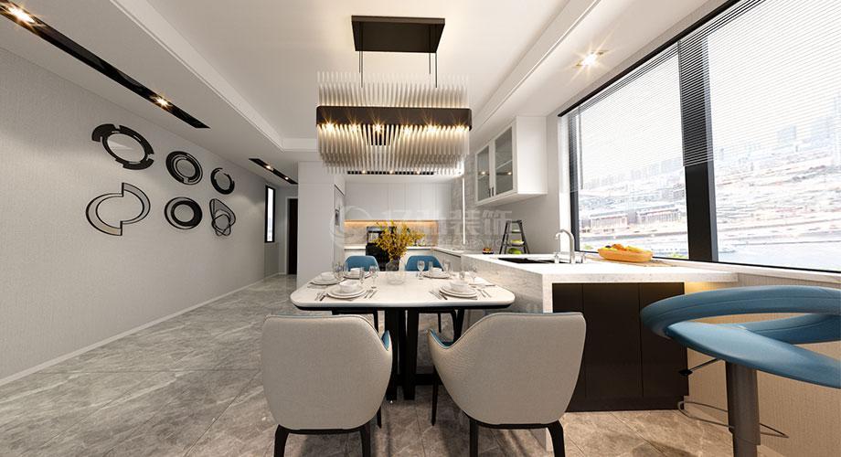 襄阳航宇幸福家园122平米三室两厅现代风格装修效果图!