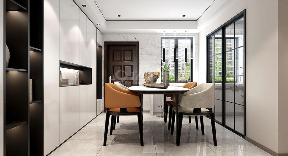 襄阳山水华府135平米三室两厅现代风格装修效果图!