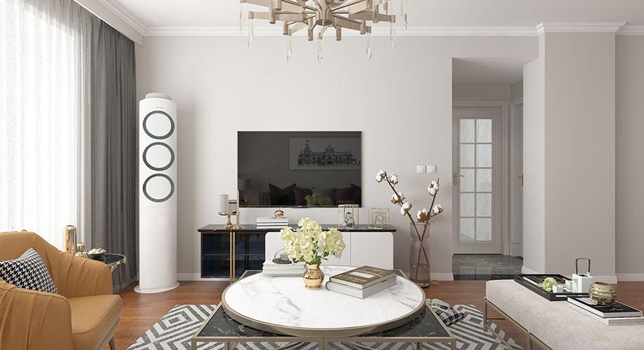 春园路铁四院94平米简欧风格两居室装修效果图!
