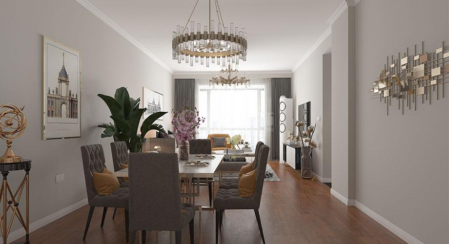 襄阳装修案例春园路铁四院94平米简欧风格两居室装修效果图!