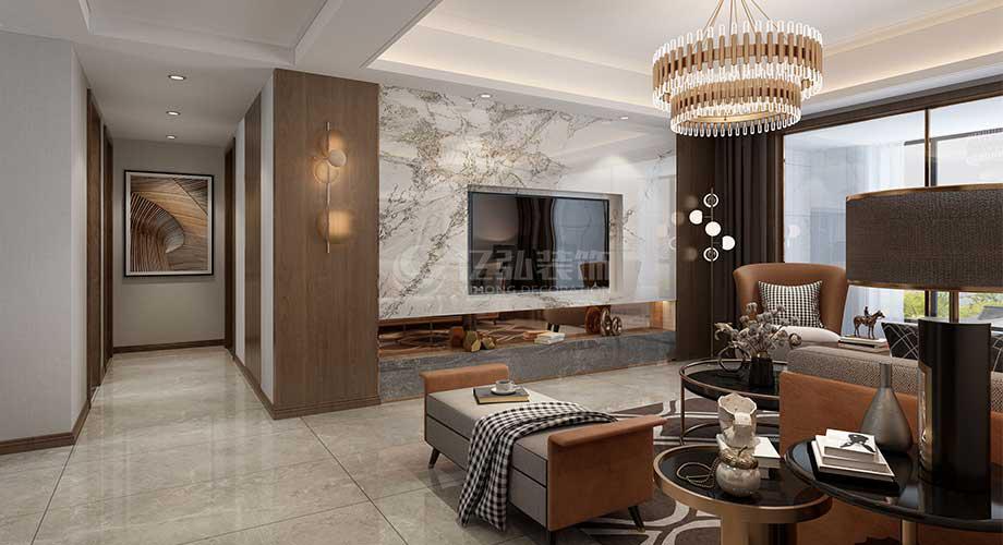 襄阳余岗小区122平米现代轻奢风格装修效果图!
